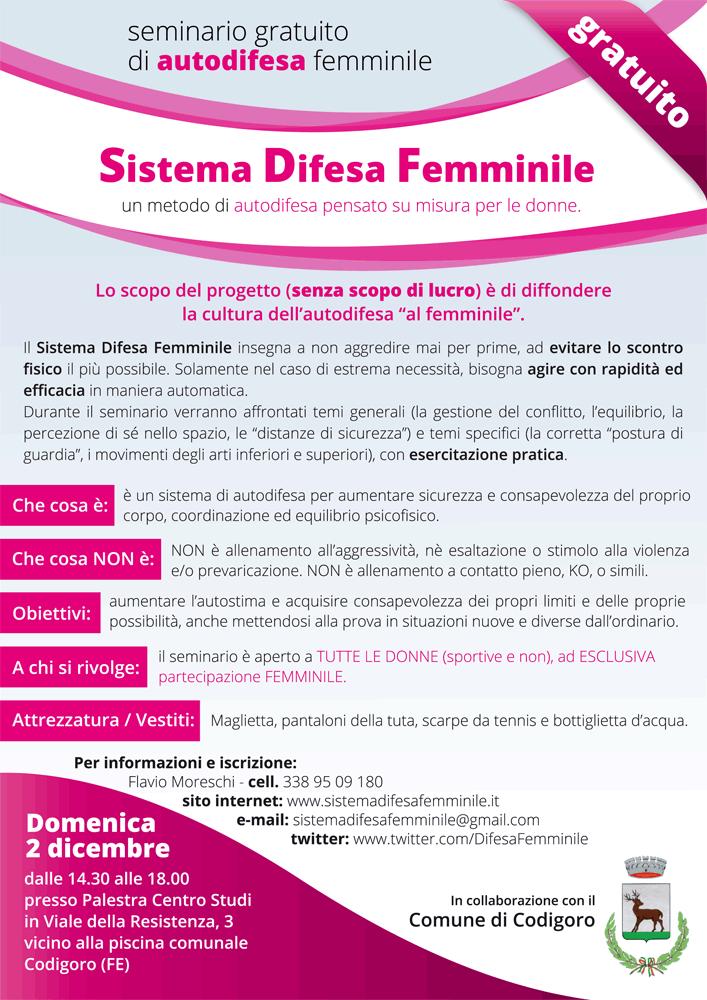 Seminario Sistema Difesa Femminile Codigoro 2 dicembre 2012